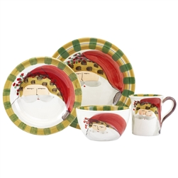 Vietri Old St. Nick Animal Hat Four-Piece Service for One - OSN-7800CS-4