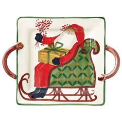 Vietri Old St Nick Square Handled Platter - OSN-78015