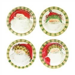 Vietri Old St Nick Assorted Round Salad Plates - Set of 4 - OSN-7802