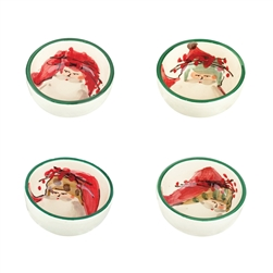 Vietri Old St Nick Assorted Condiment Bowls - Set of 4 - OSN-7803