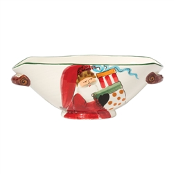 Vietri Old St Nick Oval Bowl With Presents - OSN-78047