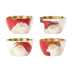 Vietri Old St Nick Assorted Cereal Bowls - Set of 4 - OSN-78051