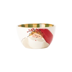 Vietri Old St Nick Cereal Bowl - Red Hat - OSN-78051A