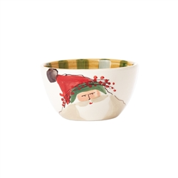 Vietri Old St Nick Cereal Bowl - Green Hat - OSN-78051B
