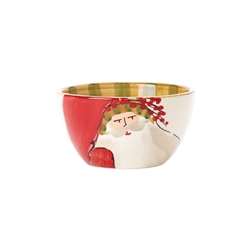 Vietri Old St Nick Cereal Bowl - Striped Hat - OSN-78051D