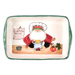 Vietri Old St Nick Rectangular Baking Dish with Chef - OSN-78062