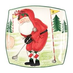 Vietri Old St Nick Square Platter - Golfing - OSN-78068