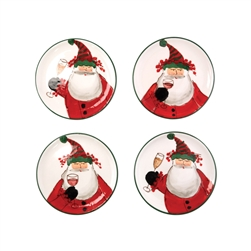 Vietri Old St. Nick Cocktail Plates - OSN-78072-GB