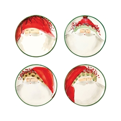 Vietri Old St Nick Assorted Canape Plates - Set of 4 - OSN-7819