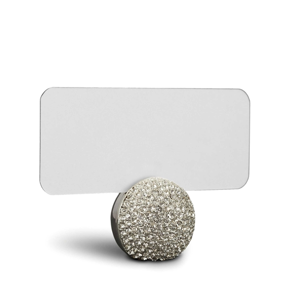 L'Objet Pave Sphere Place Card Holders in Platinum