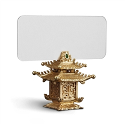 L'Objet Pagoda Place Card Holders Gold
