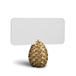 L'Objet Pine Cone Place Card Holders Gold
