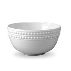 L'Objet Perlee White Cereal Bowl