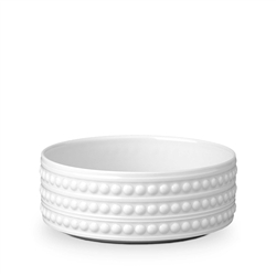 "L'objet Perlee White 5"" Vertical Bowl"
