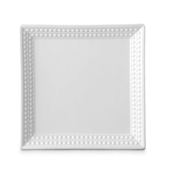 L'Objet Perlee White Square Tray