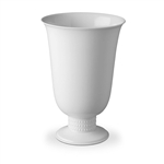 L'Objet Perlee White Footed Vase