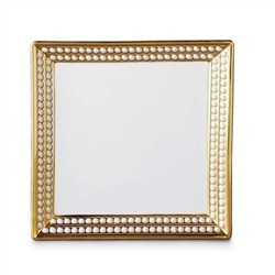 L'Objet Perlee Gold Square Tray