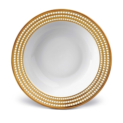 "L'objet Perlee Gold 14"" Round Serving Bowl"