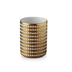 L'Objet Perlee Gold Small Vase