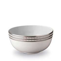 L'Objet Perlee Platinum Serving Bowl