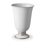L'Objet Perlee Platinum Footed Vase