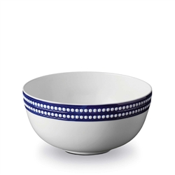 L'objet Perlee Blue Round Serving Bowl