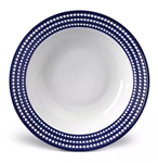 L'objet Perlee Blue Round Serving Bowl Large
