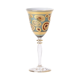 Vietri Regalia Aqua Wine Glass