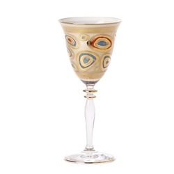 Vietri Regalia Cream Wine Glass