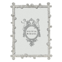 Olivia Riegel Silver Pave Odyssey 5 x 7 Frame with Powder Blue Enamel Back