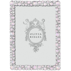 Olivia Riegel McKenzie 4 x 6 Frame with Opaline Rose Gemstones