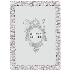 Olivia Riegel McKenzie 5 x 7 Frame with Opaline Rose Gemstones