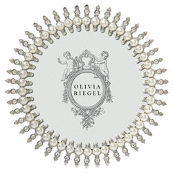 Olivia Riegel Jubilee 5'' Round Pearl Frame - Chelsea Gifts