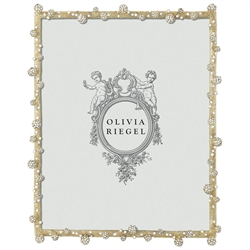 "Olivia Riegel Pave Odyssey 8"" x 10"" Photo Frame w/Silk  Moire Back"