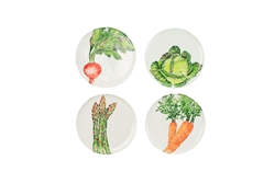 Vietri Spring Vegetables Assorted Salad Plates - Set of 4 - SGV-9701