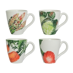 Vietri Spring Vegetables Assorted Mugs - Set of 4
