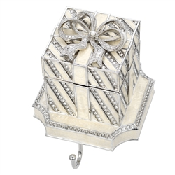 Olivia Riegel White Gift Box Stocking Holder - Chelsea Gifts