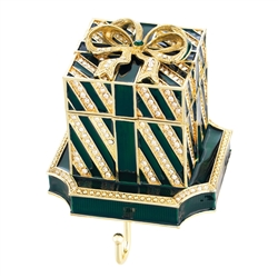 Olivia Riegel Green Gift Box Stocking Holder - Chelsea Gifts