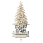 Olivia Riegel Flocked Crystal Tree Stocking Holder - Chelsea Gifts