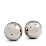 L'Objet Stars Salt & Pepper Shakers Platinum Set of 2