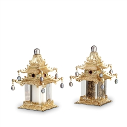 L'Objet Spice Jewels Pagoda Gold, Fresh Water Pearls and Yellow Crystals