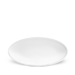 L'Objet Soie Tressee White Oval Platter - Small
