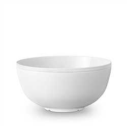 L'Objet Soie Tressee White Serving Bowl