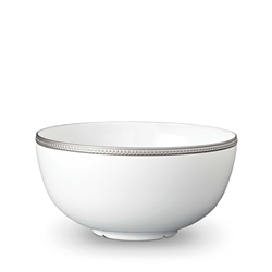 L'Objet Soie Tressee Platinum Serving Bowl