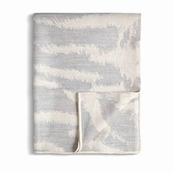 L'Objet Tiger Jacquard Throw - Ecru + Grey