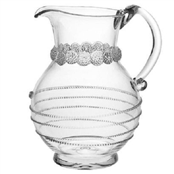 Juliska Amalia Large Round Mouth-Blown Pitcher Clear