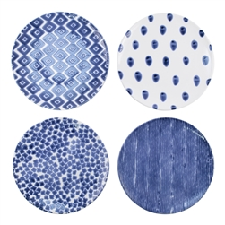 Vietri Santorini Assorted Dinner Plates - Set of 4 - VSAN-003000
