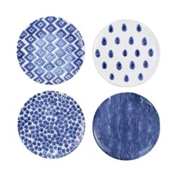 Vietri Santorini Assorted Salad Plates - Set of 4 - VSAN-003001