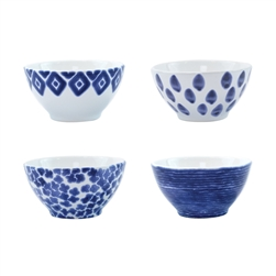 Vietri Santorini Assorted Cereal Bowls - Set of 4 - VSAN-003005