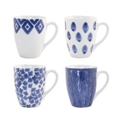 Vietri Santorini Assorted Mugs - Set of 4 - VSAN-003010